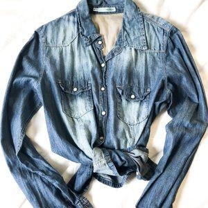 Long Sleeve Jean Chambray Shirt